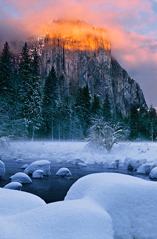 Winter Sunset, El Capitan 1024X